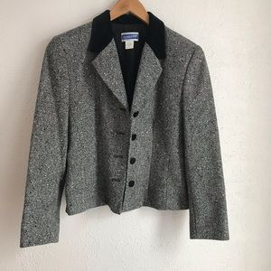 Pendleton 8P Gray Tweed Wool Vintage Blazer Jacket